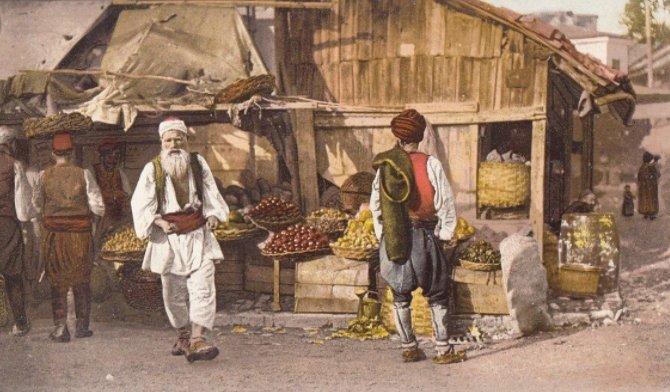 Fruit vendors in Sarajevo