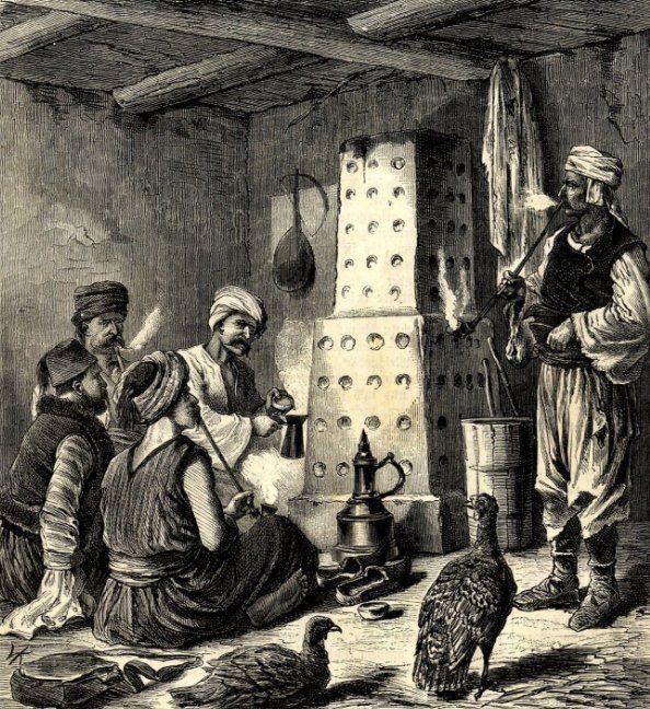 Bosnian men smoking tobacco